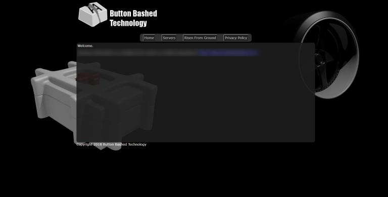 Button Bashed Technologies, Website Screenshot