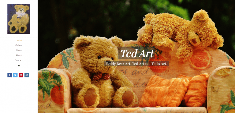 TedArt – Teddy Bear Art Ted Art not Ted s Art, Website Screenshot